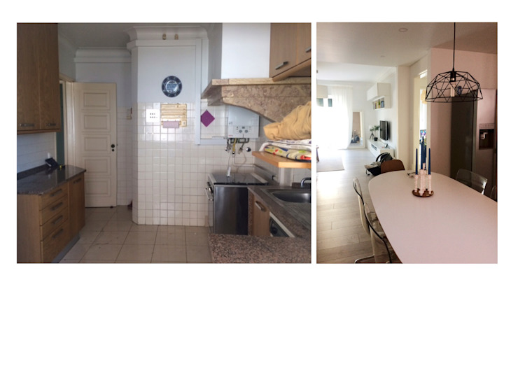 Remodelação de sala de jantar em cozinha Salas de jantar modernas por CSR Moderno