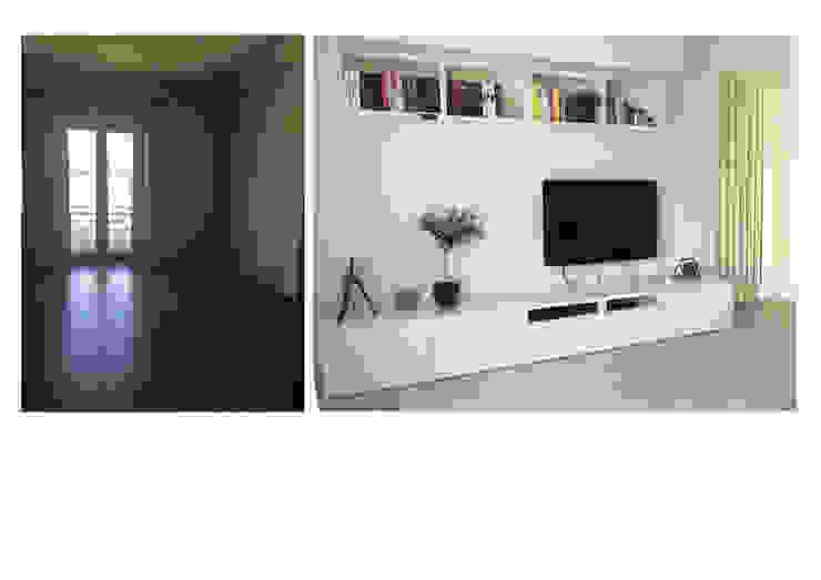 Remodelação de sala de estar Salas de estar modernas por CSR Moderno