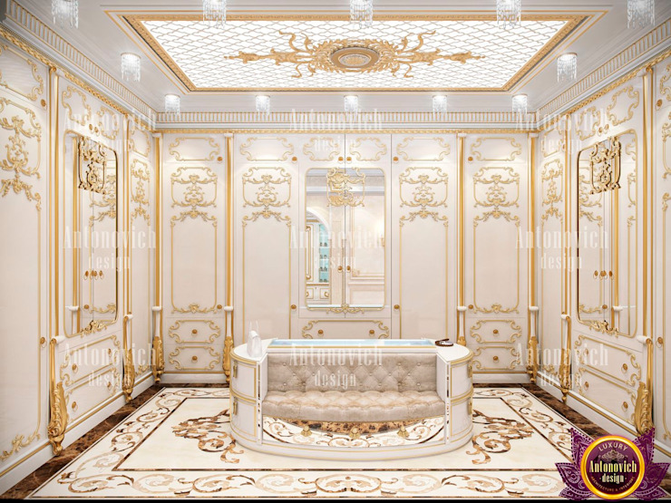 ​Womanly Interior Design by Katrina Antonovich Classic style dressing room by Luxury Antonovich Design Classic