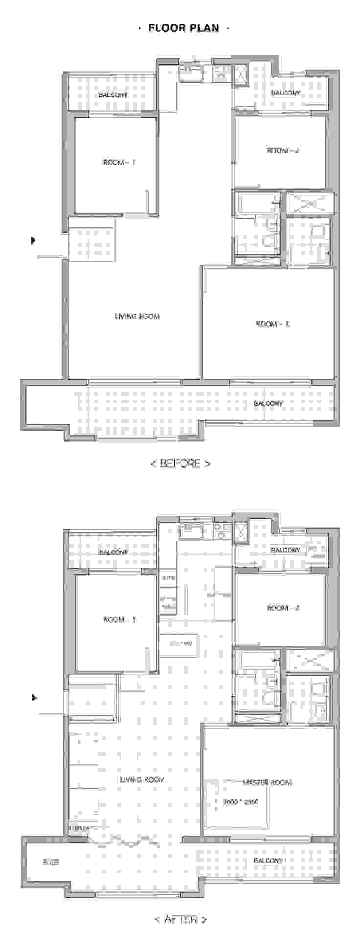 상봉동 건영2차 33PY: 봄디자인의 현대 ,모던