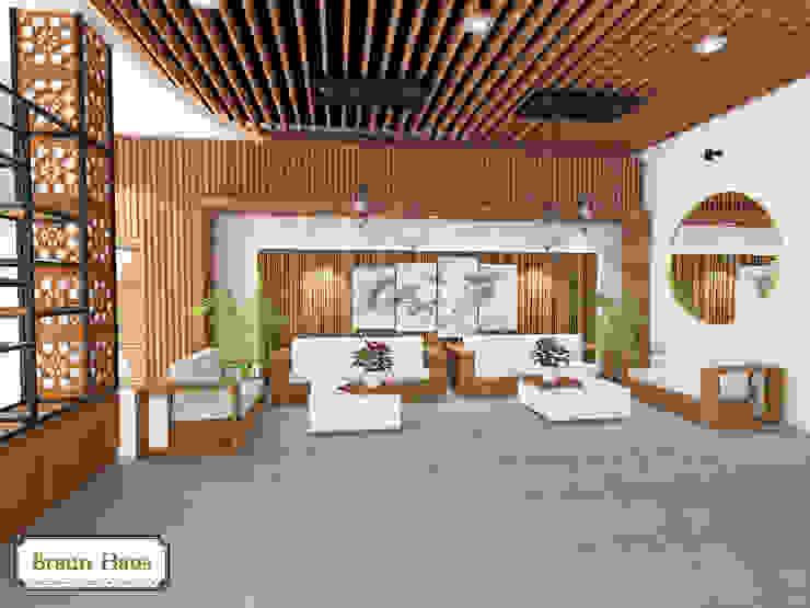 Timber office Ruang Studi/Kantor Modern Oleh Braun Haus Modern Kayu Wood effect