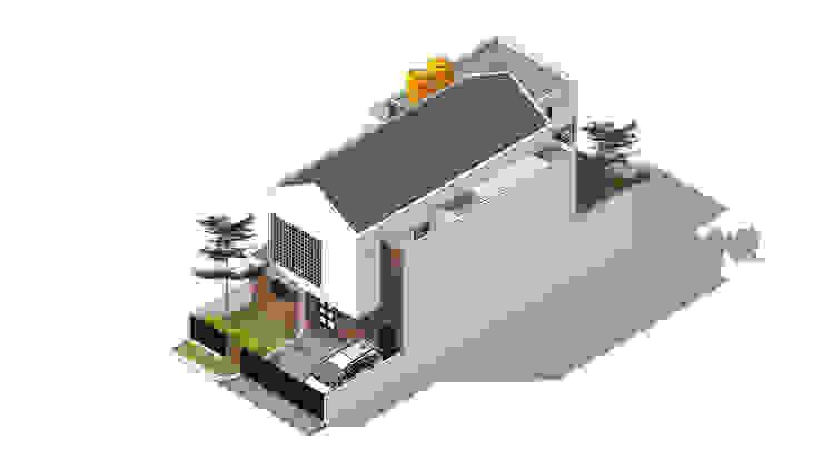 Isometric Rekabentuk ID Rumah tinggal Beton White
