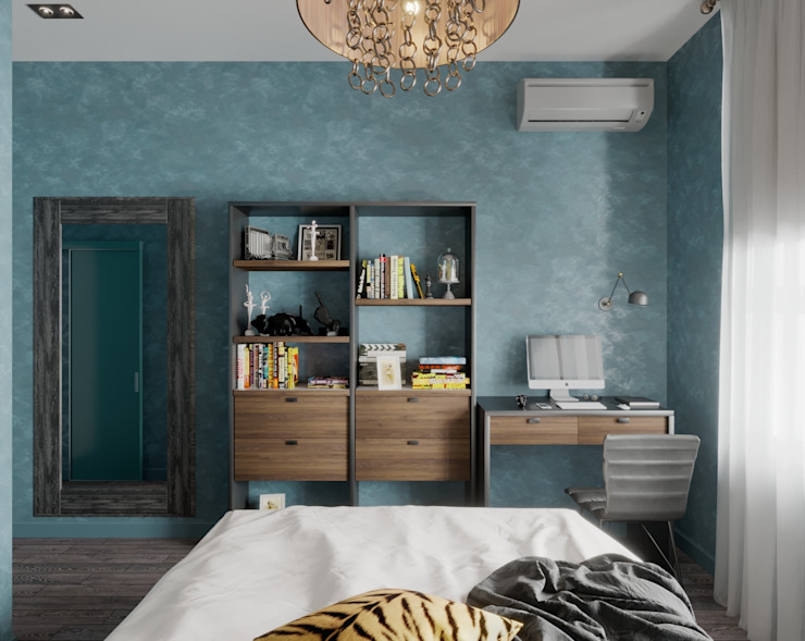 ДизайнМастер Eclectic style bedroom Blue