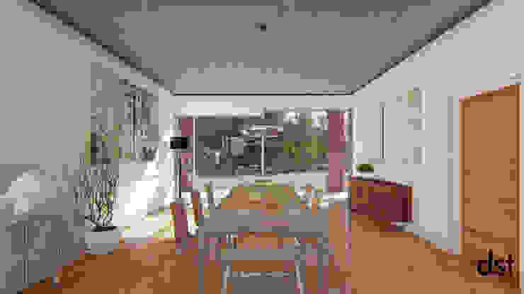Casa Guevara Comedores minimalistas de DST arquitectura Minimalista