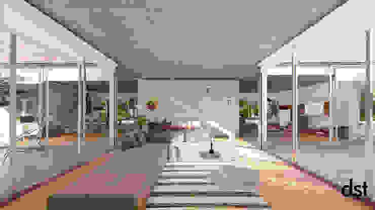 Casa Guevara Salones minimalistas de DST arquitectura Minimalista