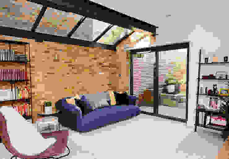 Modern Living Room Modern living room by Resi Architects in London Modern Bricks