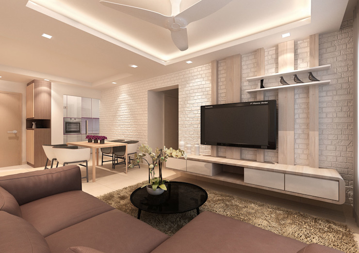 Modern living room by March Atelier Modern Plywood