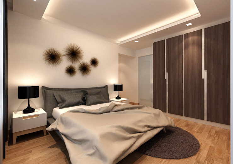 Modern style bedroom by March Atelier Modern Plywood
