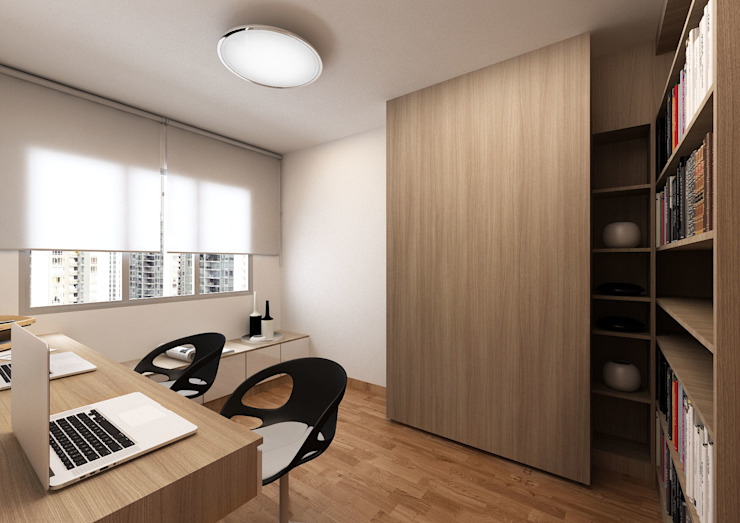 Modern study/office by March Atelier Modern Plywood