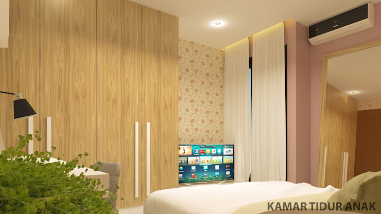 YN House, Interior Design Oleh dk.std.id Modern Kayu Lapis