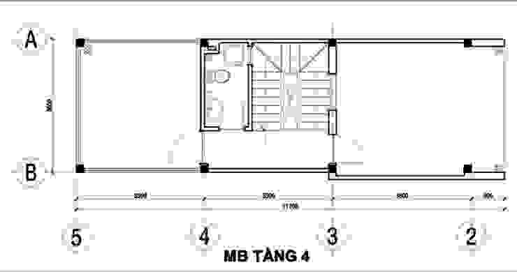 Asian style balcony, veranda & terrace by Công ty Thiết Kế Xây Dựng Song Phát Asian