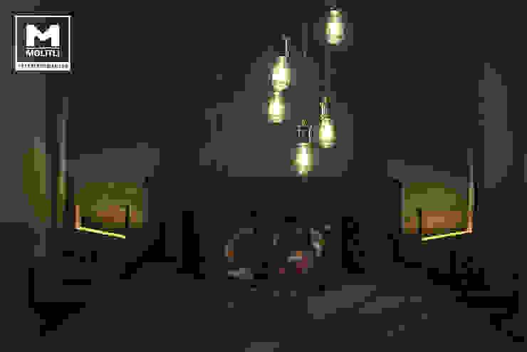 Woonhuis in Hengelo Industriële slaapkamers van Molitli Interieurmakers Industrieel