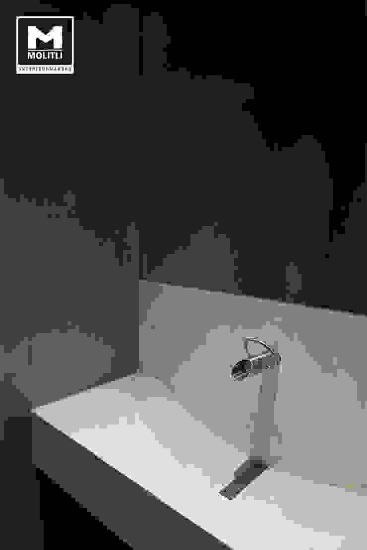 Woonhuis in Hengelo Industriële badkamers van Molitli Interieurmakers Industrieel