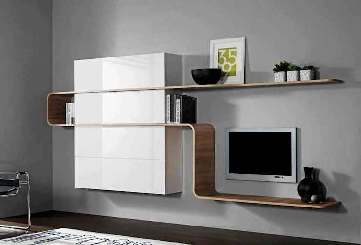 Modern TV Cabinet Wall Unit- Living room: modern  by Innoire Design,Modern