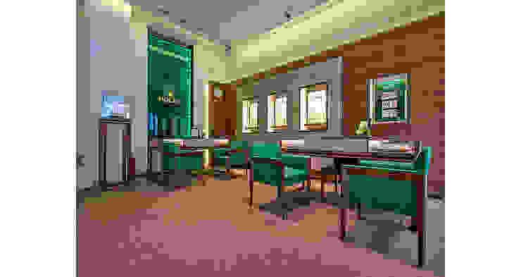 Oficinas y bibliotecas de estilo moderno de Tolga Archıtects Moderno