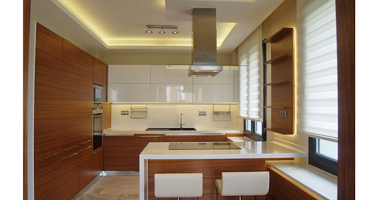 Tolga Archıtects – Lagün E House:  tarz Mutfak, Modern