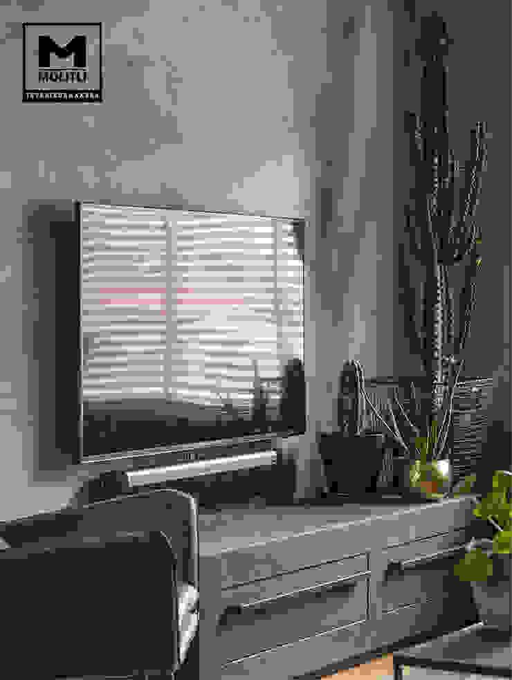 Restyling woonkamer Industriële woonkamers van Molitli Interieurmakers Industrieel