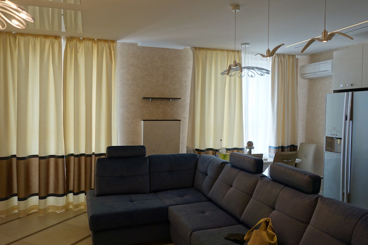 Modern Oturma Odası Студия интерьерного дизайна happy.design Modern