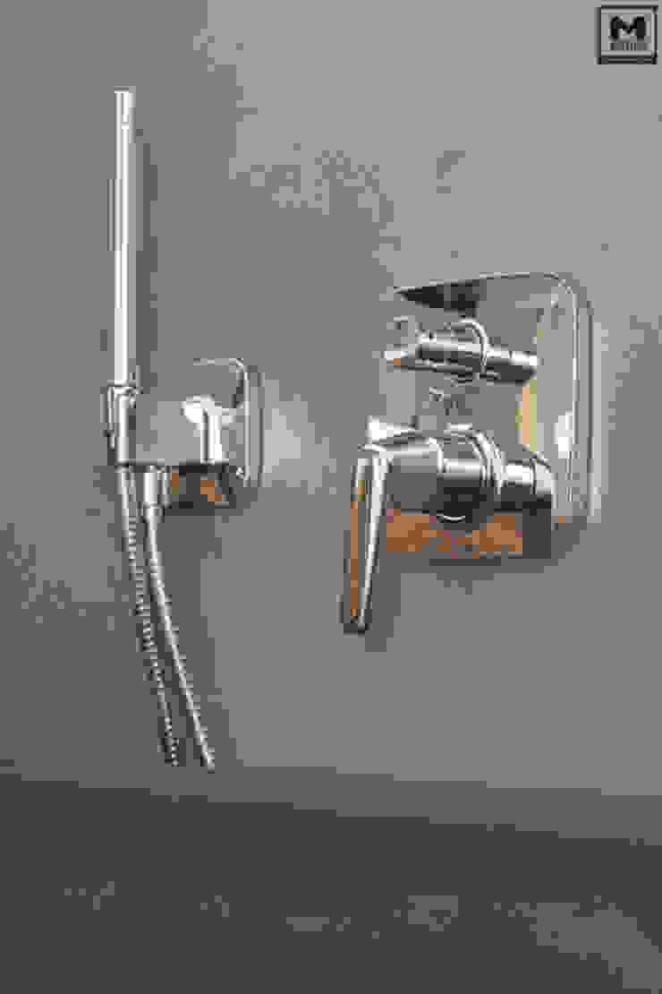 Badkamer betonstuc vrijstaand bad Landelijke badkamers van Molitli Interieurmakers Landelijk
