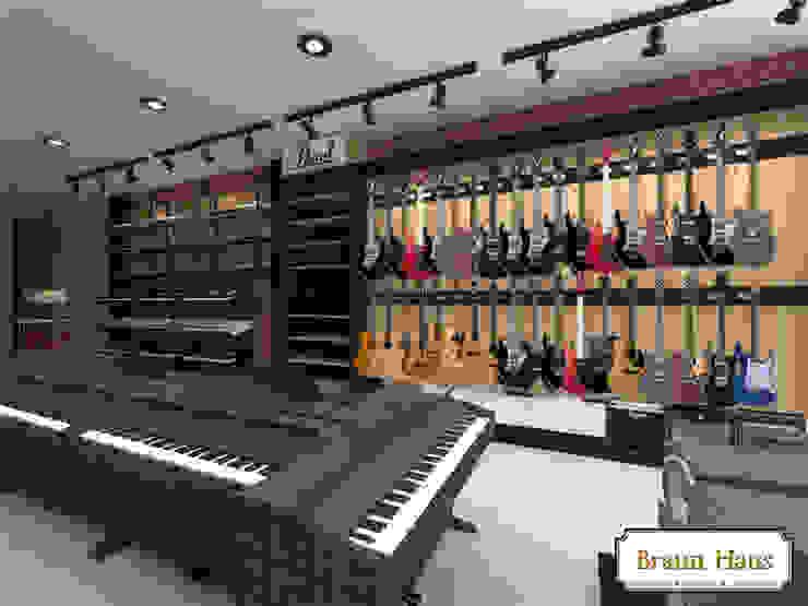 Toko music Kantor & Toko Gaya Industrial Oleh Braun Haus Industrial