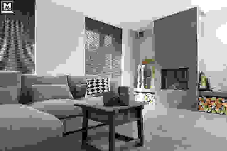 Restyling woning: Woonkamer, badkamer, keuken Scandinavische woonkamers van Molitli Interieurmakers Scandinavisch