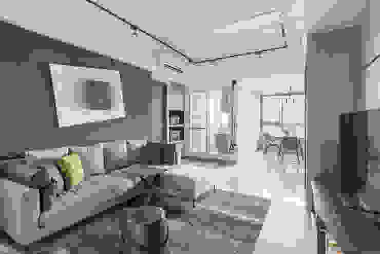 Salones minimalistas de 寬宸室內設計有限公司 Minimalista