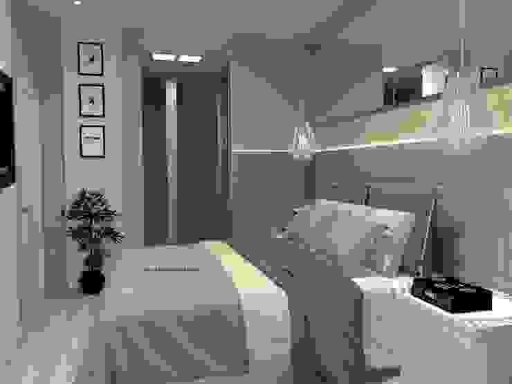 Phòng ngủ phong cách hiện đại bởi Laene Carvalho Arquitetura e Interiores Hiện đại Bê tông
