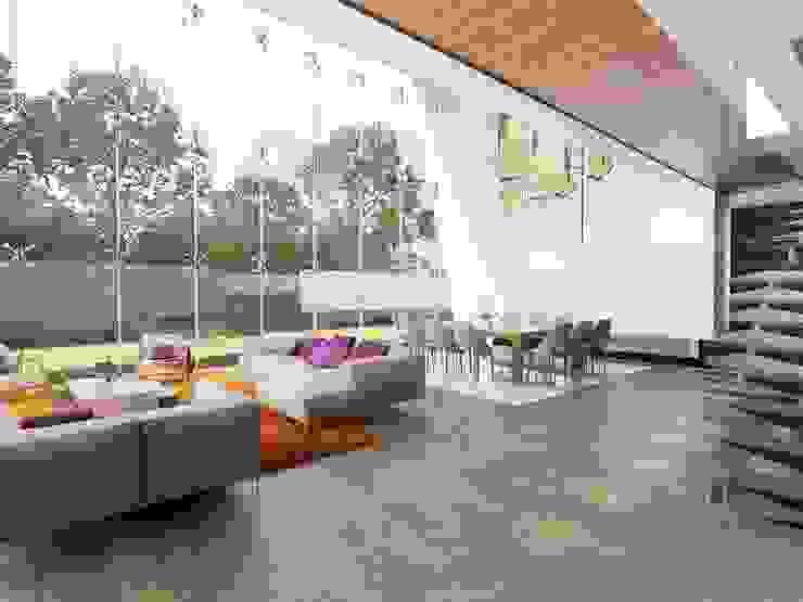 Salas de estilo moderno de homify Moderno Derivados de madera Transparente