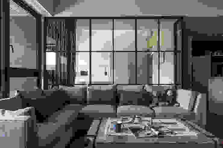 客廳 根據 果仁室內裝修設計有限公司 工業風