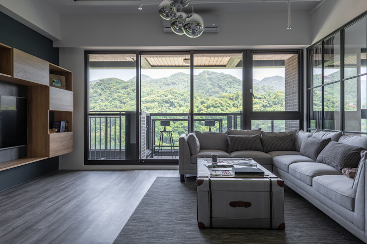 客廳VIEW 根據 果仁室內裝修設計有限公司 工業風