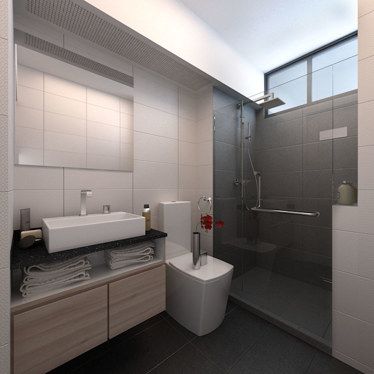 Common Bathroom Kamar Mandi Modern Oleh March Atelier Modern