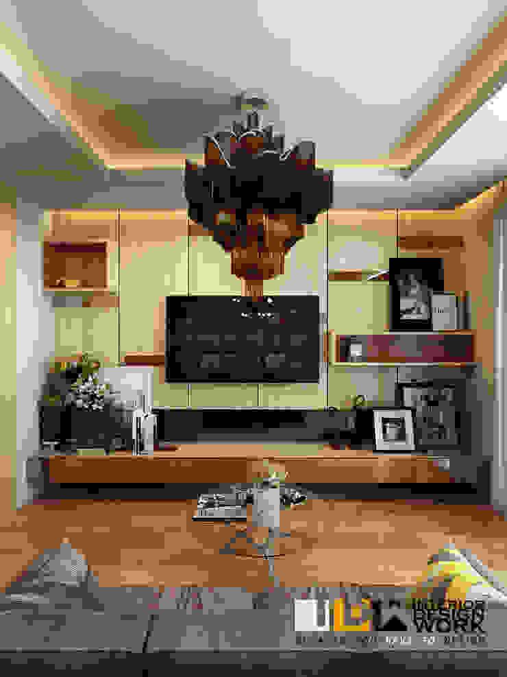 living room.: ทันสมัย  โดย walkinterior , โมเดิร์น