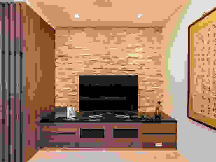 日常的溫度 木質調 现代客厅設計點子、靈感 & 圖片 根據 好室佳室內設計 現代風