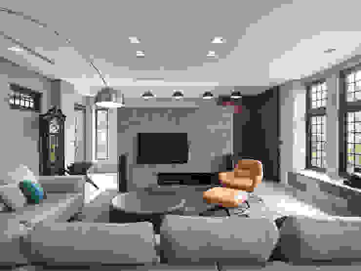 光景 巫宅 现代客厅設計點子、靈感 & 圖片 根據 WID建築室內設計事務所 Architecture & Interior Design 現代風