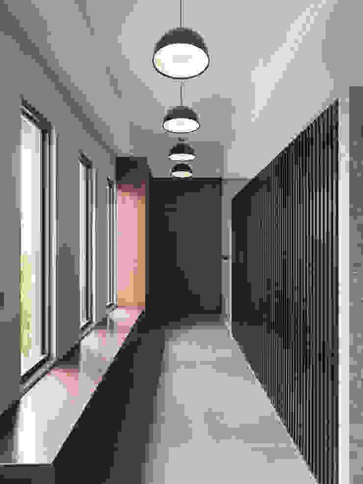 光景 巫宅 現代風玄關、走廊與階梯 根據 WID建築室內設計事務所 Architecture & Interior Design 現代風