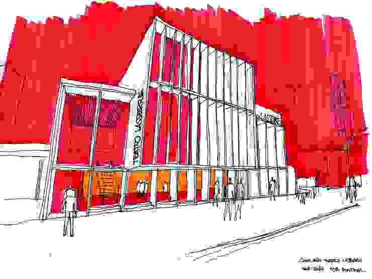 Moderne evenementenlocaties van Mauricio Morra Arquitectos Modern