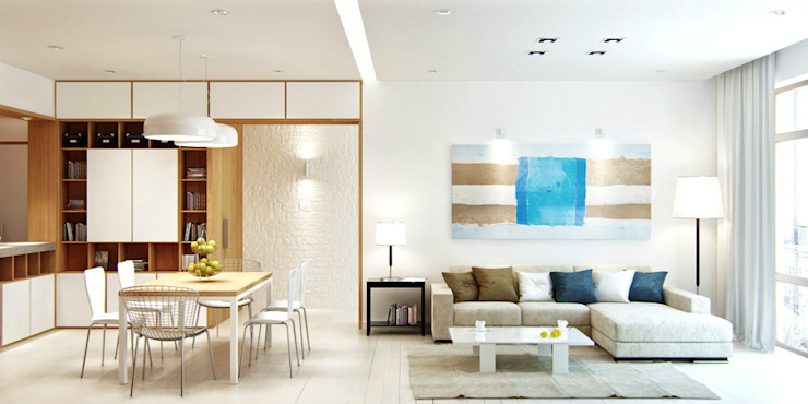 Beach Theme Interior Ruang Keluarga Modern Oleh March Atelier Modern