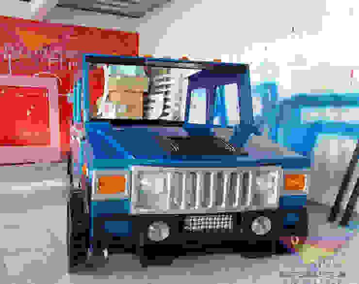 Increíble cama estilo Hummer de Kids Wolrd- Recamaras Literas y Muebles para niños Moderno Derivados de madera Transparente