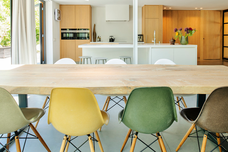 Kitchen by Jolanda Knook interieurvormgeving, Eclectic Wood Wood effect