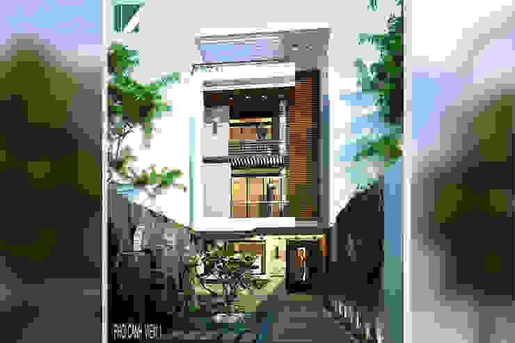 NHÀ PHỐ MẶT TIỀN 6M bởi Kiến trúc Việt Xanh
