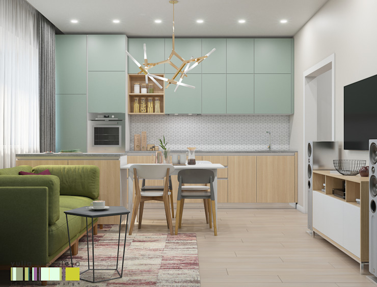 Kitchen by Мастерская интерьера Юлии Шевелевой