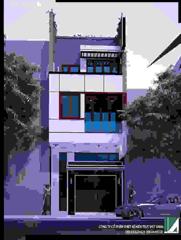 5 MẪU NHÀ PHỐ HIỆN ĐẠI 5 TẦNG bởi Kiến trúc Việt Xanh