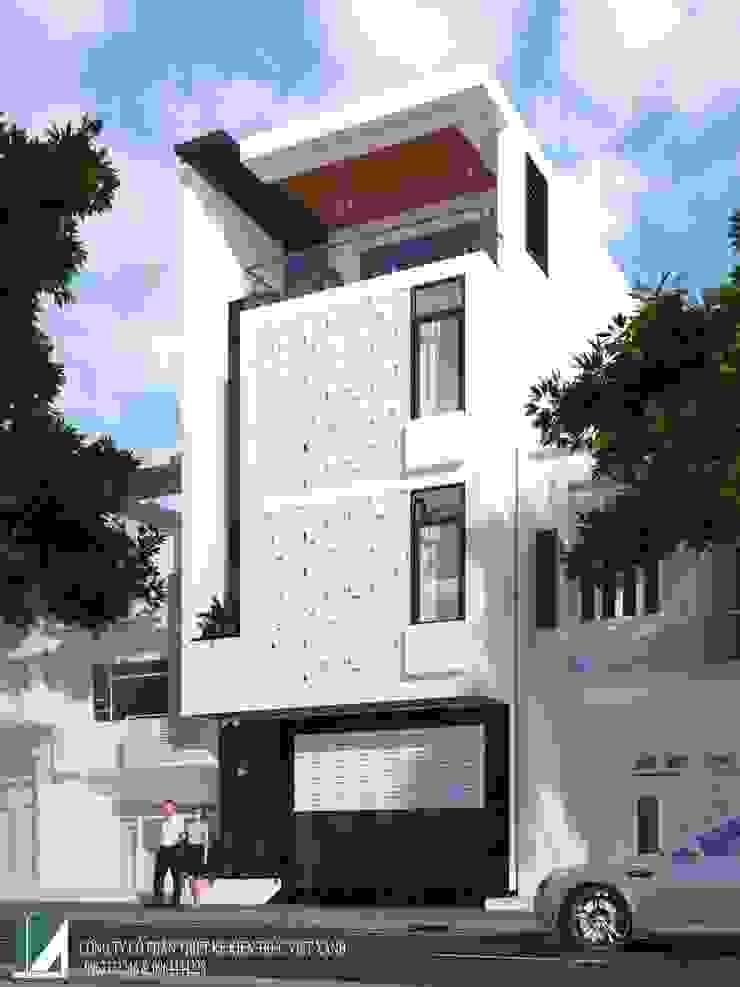 8 MẪU NHÀ PHỐ HIỆN ĐẠI 4 TẦNG CỰC ĐẸP bởi Kiến trúc Việt Xanh
