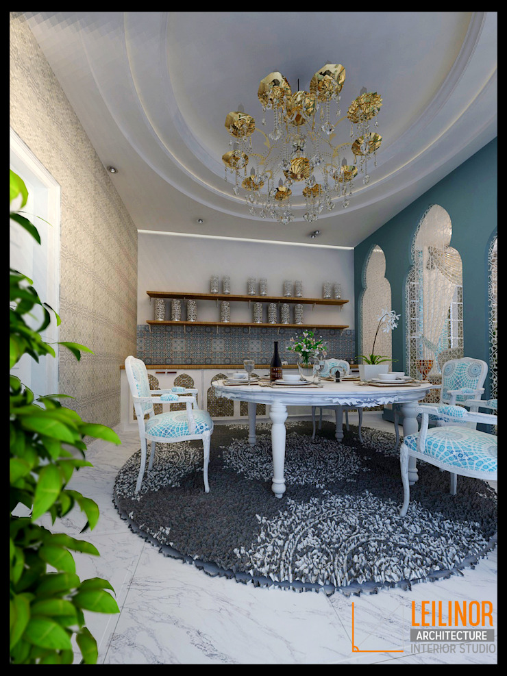 Morrocan Style Interior Classic style dining room by CV Leilinor Architect Classic