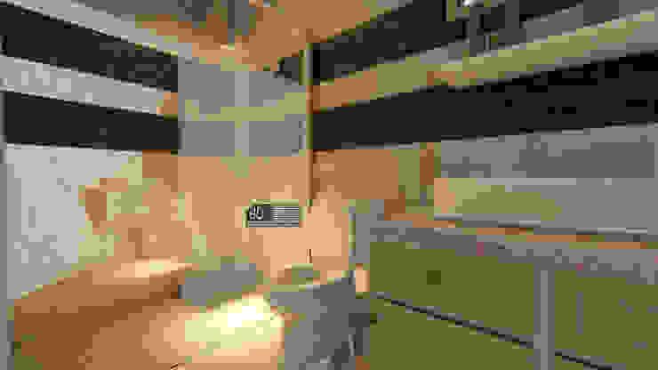 Desain Rumah Modern Bapak Barik Di Malang Kamar Mandi Modern Oleh Wahana Utama Studio Modern Batu