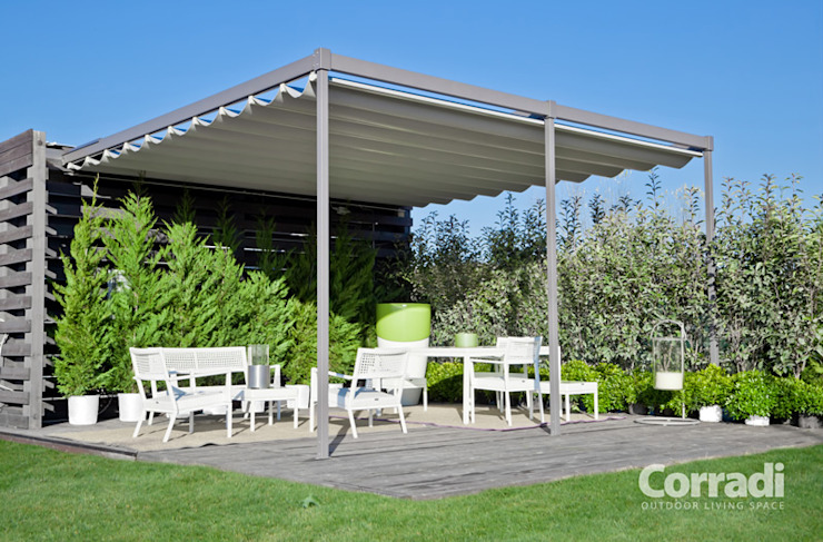 Lean-to roof by Grosso Tende Srl, Modern Aluminium/Zinc