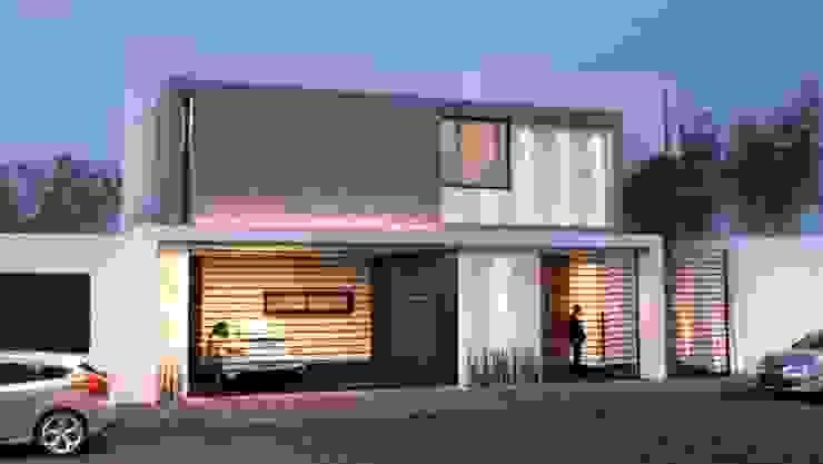 CASA S+V arquitectura+proyectos Casas modernas Concreto Blanco