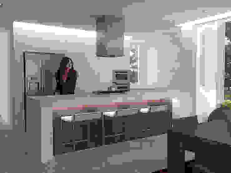 5 Casas en Miami Cocinas de estilo minimalista de RRA Arquitectura Minimalista Madera Acabado en madera