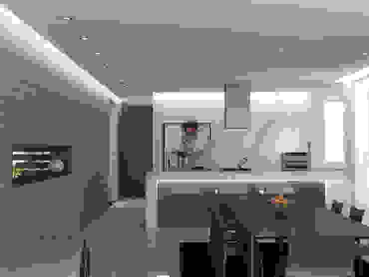 5 Casas en Miami Comedores de estilo minimalista de RRA Arquitectura Minimalista Madera Acabado en madera