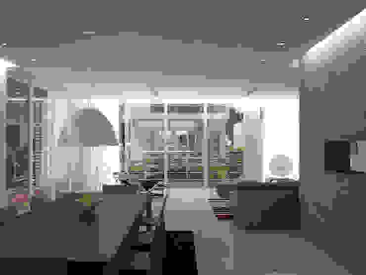 5 Casas en Miami Salas de estilo minimalista de RRA Arquitectura Minimalista Madera Acabado en madera